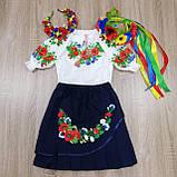 """Дитяча Спідниця з вишивкою вишиванка """"Маруся"""" червона, фото 3"""