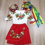 """Дитяча Спідниця з вишивкою вишиванка """"Маруся"""" червона, фото 4"""