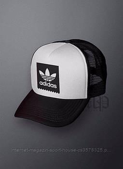 Спортивна кепка Adidas, Адідас, тракер, річна кепка, унісекс, чорного і білого кольору (копія)