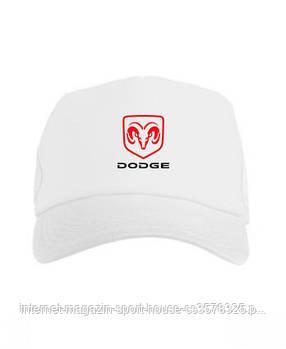 Спортивна кепка Dodge, Додж, тракер, річна кепка, чоловіча, жіноча, білого кольору, копія