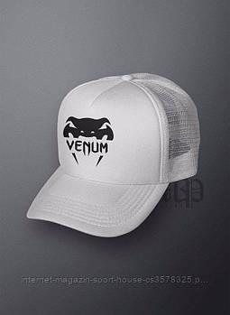 Спортивна кепка Venum, Венум, тракер, річна кепка, чоловіча, жіноча, білого кольору, копія