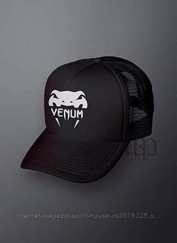 Спортивна кепка Venum, Венум, тракер, річна кепка, чоловічий, жіночий, чорного кольору, копія