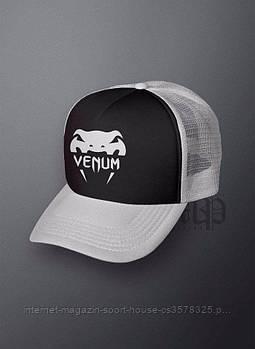 Спортивна кепка Venum, Венум, тракер, річна кепка, чоловіча, жіноча, сірого і чорного кольору, копія