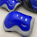 Фирменный комплект защиты, шлем Maraton+ наколенники, налокотники, перчатки детская защита для роликов, фото 6