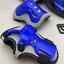 Фирменный комплект защиты, шлем Maraton+ наколенники, налокотники, перчатки детская защита для роликов, фото 5