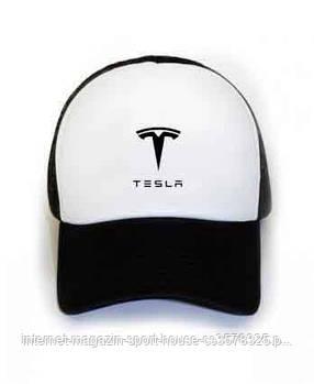 Кепка тракер Тесла (Tesla) с сеткой сзади, реплика