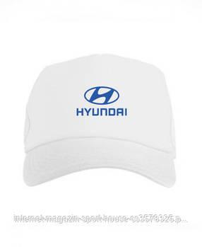 Спортивна кепка Hyundai, Хьюндай, тракер, річна кепка, чоловіча, жіноча, білого кольору, копія