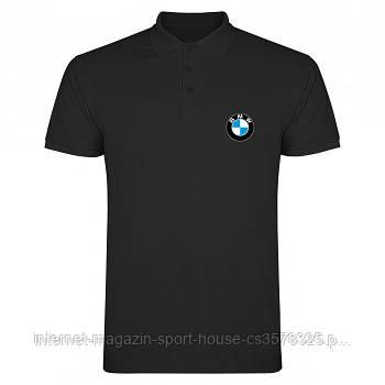Мужская хлопковая тенниска БМВ (BMW) с брендовым логотипом, реплика