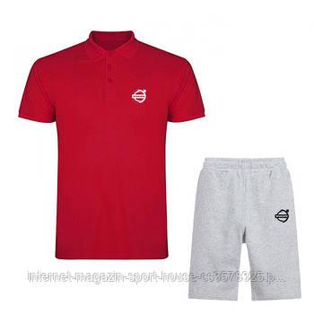 Чоловічий комплект поло/футболка і шорти Вольво (Volvo), поло і шорти Volvo,чоловіча теніска, копія