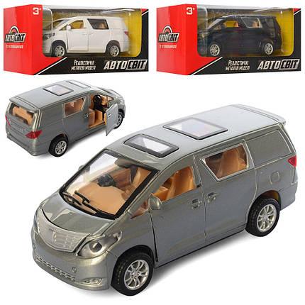 Машина модель металл/пластик АвтоМир, инерционная, 3 цвета, AS-2253, фото 2