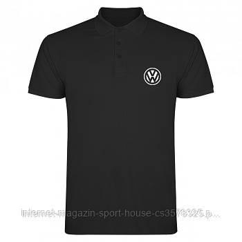 Мужская хлопковая тенниска Фольксваген (VW) с брендовым логотипом, реплика