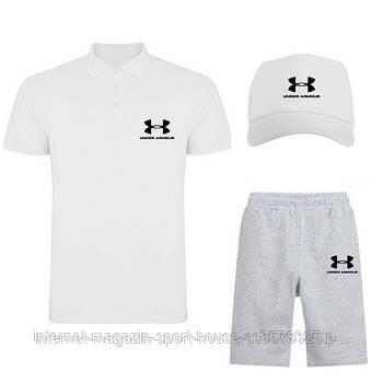 Летний набор кепка шорты и тенниска Андер Армор (Under Armour) мужской, реплика