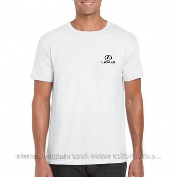 Футболка Лексус чоловіча бавовняна, спортивна літня футболка Lexus, Турецький бавовна, копія