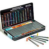 Набор разноцветных линеров в металлическом кейсе 108 цветов 0.4 мм + Альбом для скетчинга А4 на 50 листов, фото 3