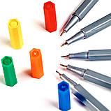 Набор разноцветных линеров в металлическом кейсе 108 цветов 0.4 мм + Альбом для скетчинга А4 на 50 листов, фото 4