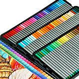 Набор разноцветных линеров в металлическом кейсе 108 цветов 0.4 мм + Альбом для скетчинга А4 на 50 листов, фото 6