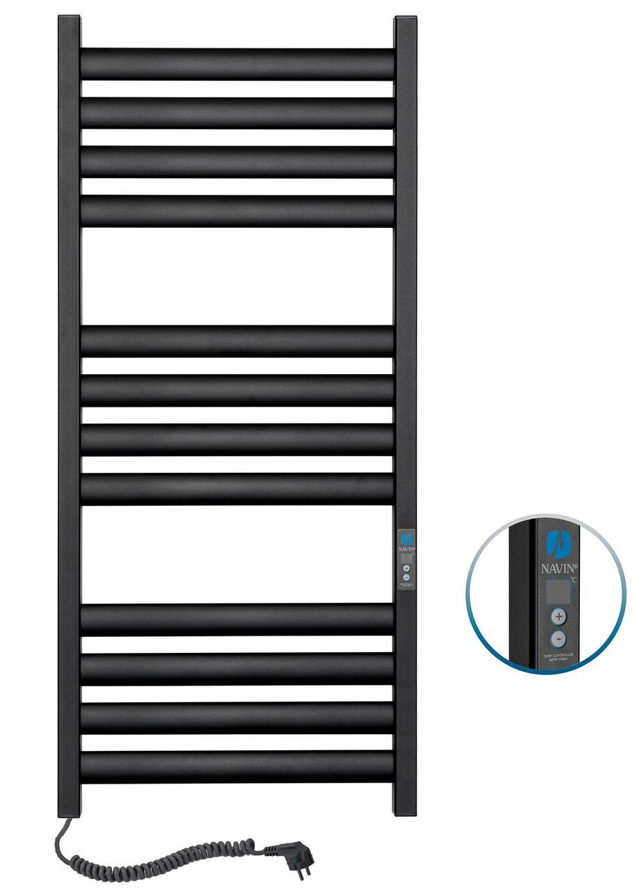 Полотенцесушитель Ellipse 500х1200 Digital лівий (чорний муар) 12-245152-5012