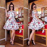 Летние свободное платье а-силуэта р-ры 42-48  арт. 739