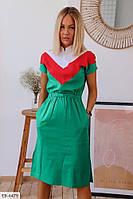 Прямое платье с резинкой на талии р-ры 42-48  арт. 115