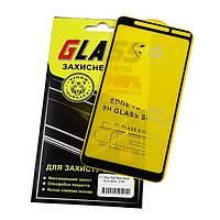 Защитное стекло для Nokia 3.1 Plus Full Glue (0.3 мм, 2.5D) черное