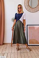 Молодіжне плаття міді вільного крою р-ри 42-48 арт. 160