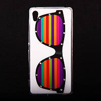 Чехол силиконовый Ультратонкий со стразами Glasses для Sony Xperia Z3 Plus Z4