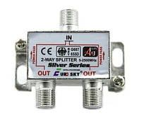 Антенный разветвитель (сплиттер) EuroSky 1/2 с проходом питания