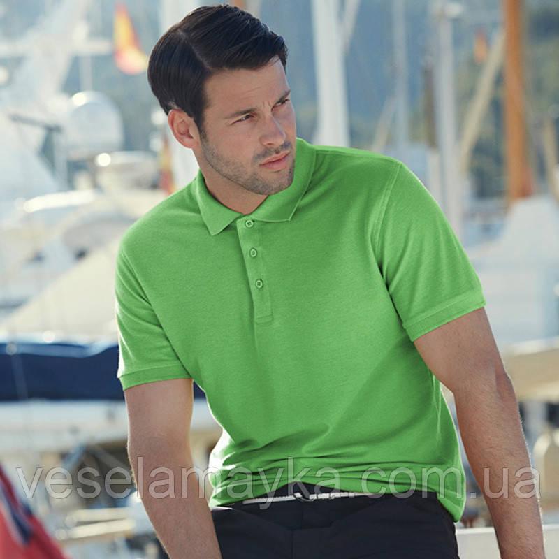 Чоловіча сорочка поло Premium (кольору лайм)