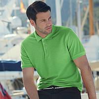 Мужская рубашка поло Premium (цвета лайм)