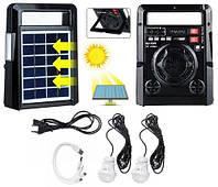 Сонячна панель з FM радіо Haoning HN-1320ULS , TF/USB, динамік, світлодіодний ліхтарик, power Bank, фото 1