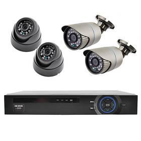 Комплект видеорегистратор+камеры KN7904DP