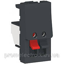 Розетка Schneider Unica New 1-мод аудіо антрацит (NU348754)