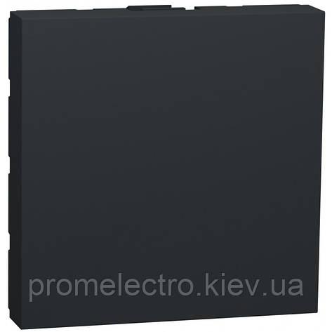 Заглушка Schneider Unica New антрацит (NU986630), фото 2