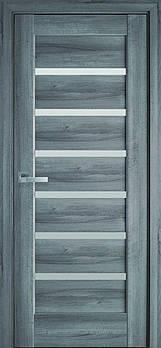 "Дверне полотно ПВХ Делюкс ""Ліннея"" 70 бук попелястий + скло (123723)"