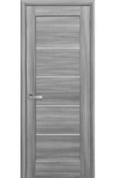 Дверне полотно ПВХ Делюкс Міра 70 бук попелястий + скло (123690)