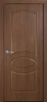 Дверне полотно ПВХ Делюкс Овал 80 золота вільха termopack глухе UM (155619)