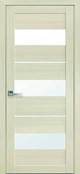 """Дверне полотно Екошпон """"Лілу"""" 70 дуб перлина +скло (56114)"""