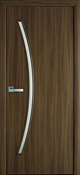 """Дверне полотно Екошпон """"Діва"""" 60 вільха 3D +скло (93603)"""