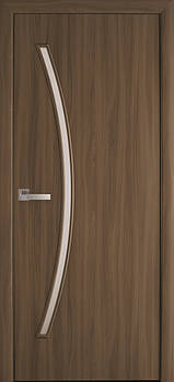 """Дверне полотно Екошпон """"Діва"""" 80 вільха 3D +скло (86248)"""