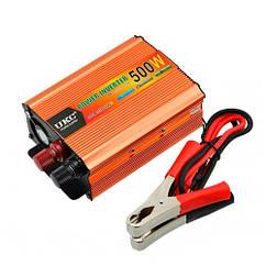 Перетворювач напруги DC/AC авто інвертор 500Вт 12-220В SSK-500W