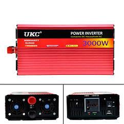 Перетворювач напруги DC/AC 3000Вт 12-220В SI-A2-AR3000M, плавний пуск