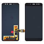 Дисплейний модуль (екран) для Samsung A530 Galaxy A8 (2018) з чорним тачскріном OLED
