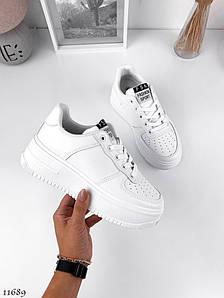Білі кросівки на високій підошві 5777 (СБ)
