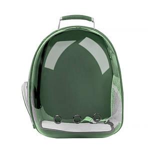Рюкзак-переноска для кошек Taotaopets 253304 Panoramic Green 35*25*42cm с иллюминатором