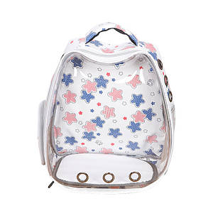 Рюкзак-переноска для кошек Taotaopets 257707 White Panoramic Stars контейнер 34*26*38 cm