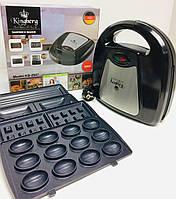 Сэндвичница гриль 4 в 1 Kingberg KB-2047 | вафельница, электрогриль, орешница, бутербродница Кингберг, фото 1