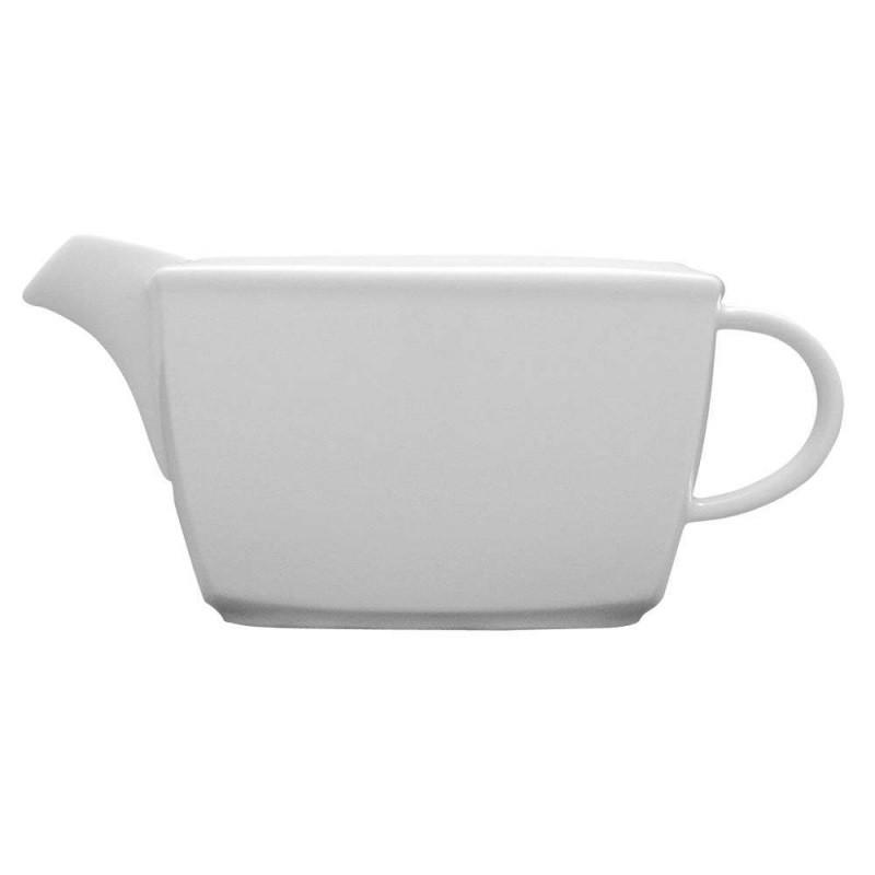 Соусница белая фарфоровая Lubiana Victoria 400 мл кувшин с ручкой посуда для соуса для сервировки в кафе бар