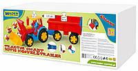 Игрушечная машинка Wader Трактор Гигант с прицепом и ковшом (66300)