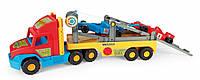 Игрушечный эвакуатор Wader Super Truck с гоночным авто (36620)