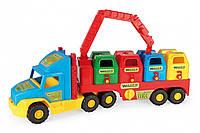 Игрушечный мусоровоз Wader Super Truck с баками (36530)